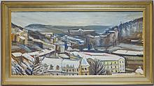 Koriavian C.1970 Russian Cityscape Painting