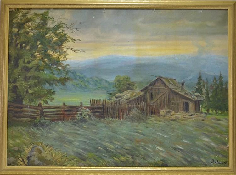 European J Rudolf Impressionist Landscape Painting