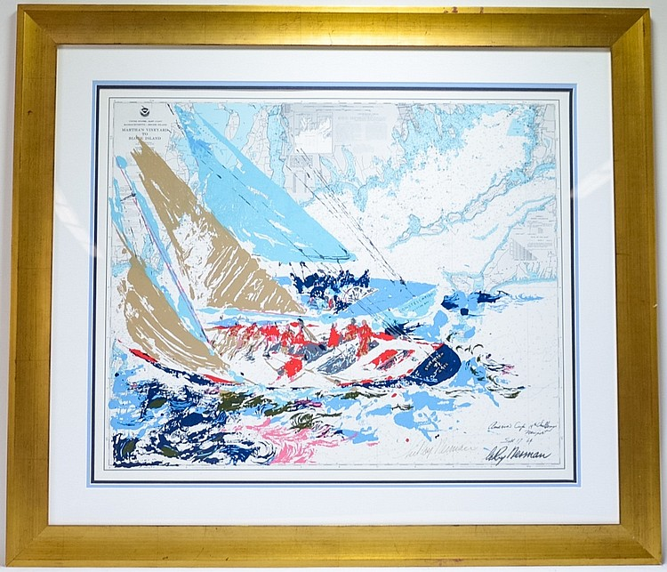 LeRoy Neiman America's Cup 1964 Signed Serigraph