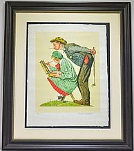 Norman Rockwell Hayseed Critic A/P Lithograph