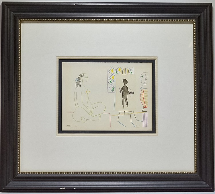 Pablo Picasso Studio I Signed Lithograph