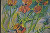 Jiri Holy Poppies Abstract Pastel Painting