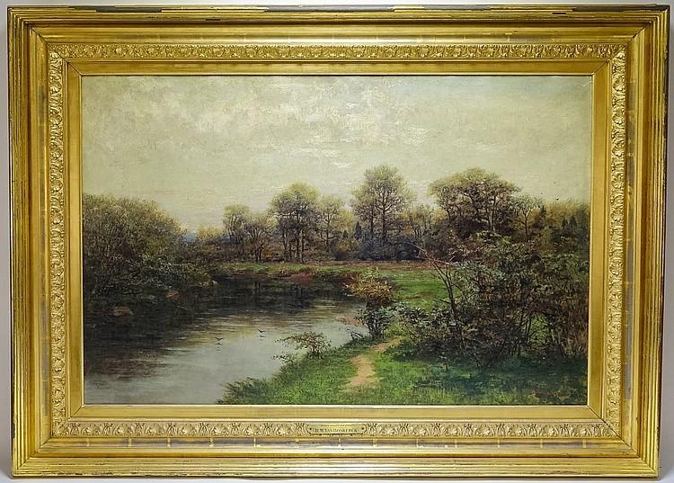 Robert Van Boskerck Lazy River Landscape Painting