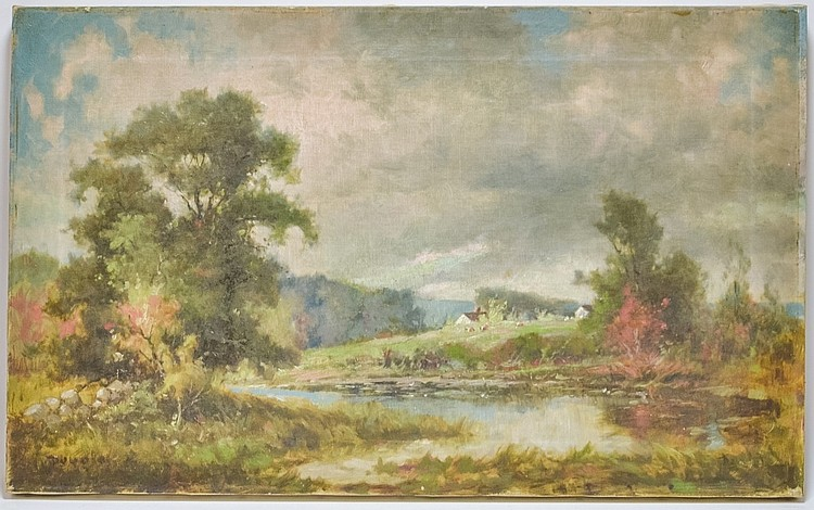 Arthur Douglas Rhode Island Farm Scene Painting