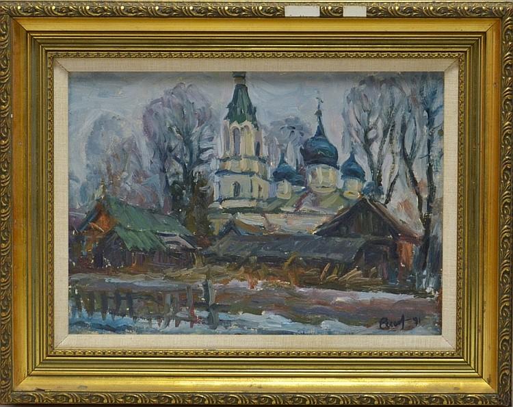 Shilintsev Russian 1991 Kazan Church Painting