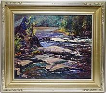 Vivian Maude Walker Rocky River Landscape Painting