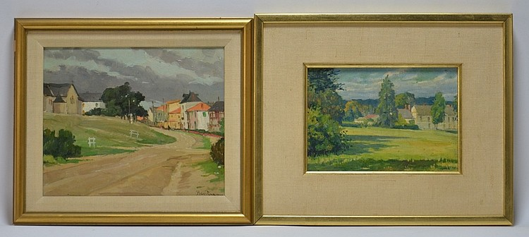 2 Gustave Hagstrom Landscape Oil Painting