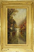 Edmund Darch Lewis O/C Painting Dated 1878