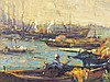 Wilson Silsby Colorful Fisherman in Boats Painting