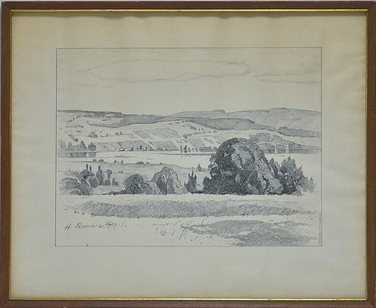 M. Sterner Switzerland Landscape Lithograph