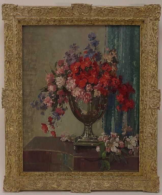 Herbert Davis Richter Floral Still Life Painting