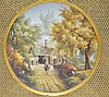 Ovington Bros. Porcelain Charger Plaque Painting