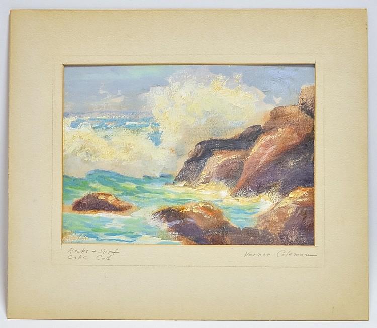 Vernon H. Coleman Cape Cod O/B Seascape Painting