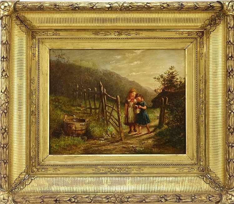 Edith Hume European Bucolic Genre Scene Painting