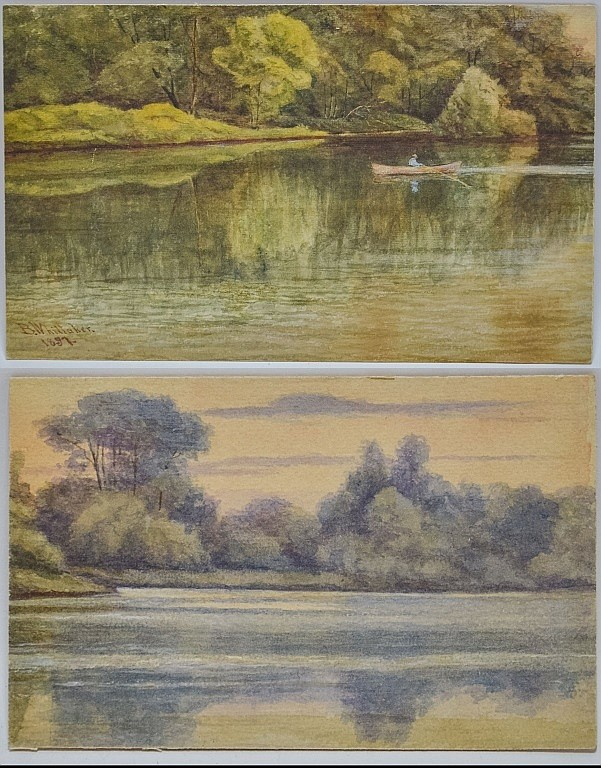 2 Signed Whittaker Watercolor Landscape Painting