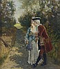Emile Meyer Romantic Courting Couple Painting