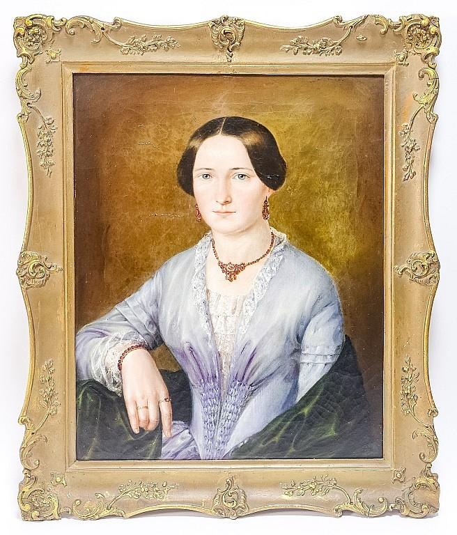 Antonie Steiney 1832 Portrait of Woman Painting