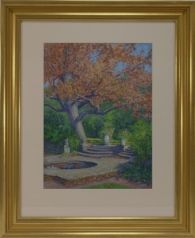 Margaret Whitehead Fall New York Fountain Painting