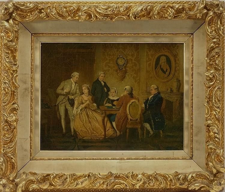 Karl Mayer European Genre Card Playing Painting