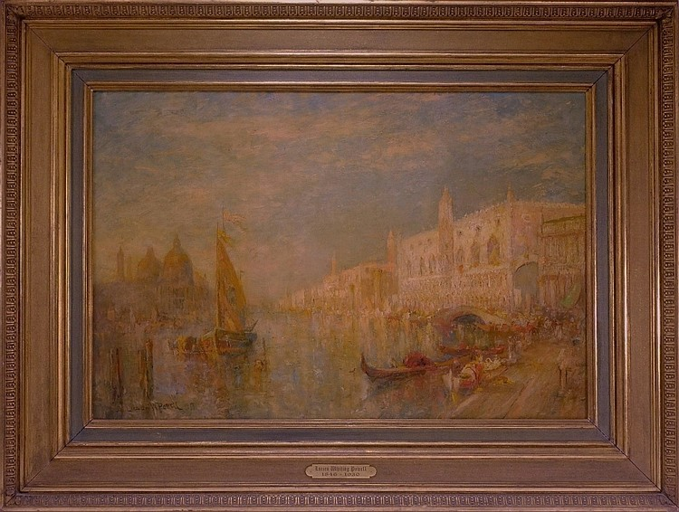 Lucien Powell Grand Canal Venetian Scene Painting
