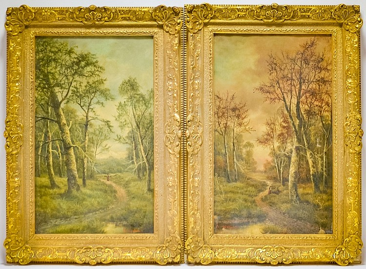 Pair S. William Impressionist Landscape Paintings