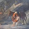 19C. Orientalist Good Samaritan O/C Painting