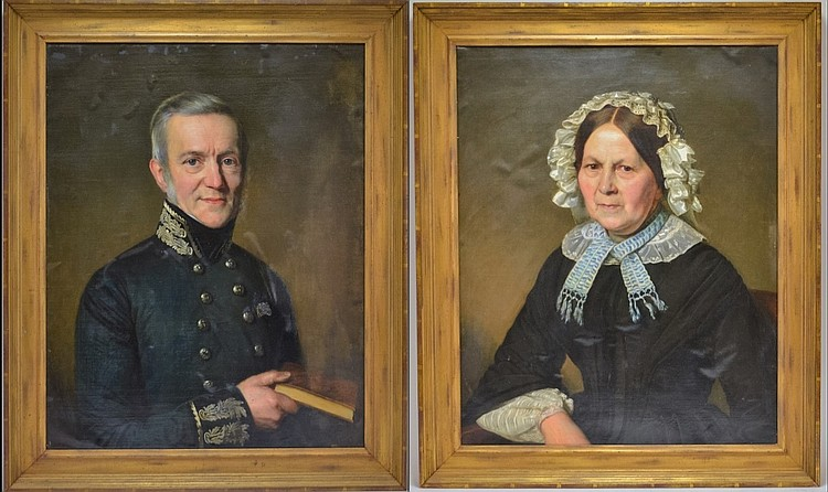 Pr Johan Heinrich Neuman German Portrait Paintings