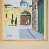 3 Miniature Semitic Paintings Signed Rosen