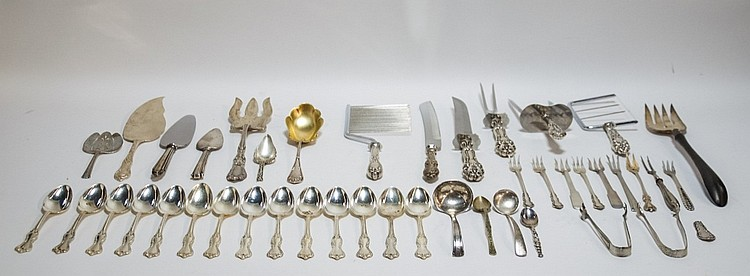 Sterling Silver Flatware Serving Group 34OZT