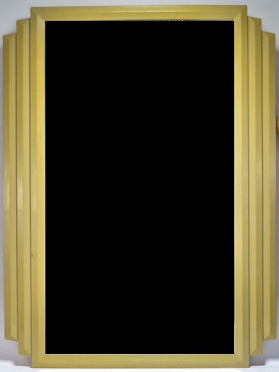 American Art Deco Beveled Glass Stepped Mirror