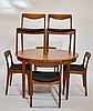 Illums Bolighus Danish Modern Walnut Table Chairs