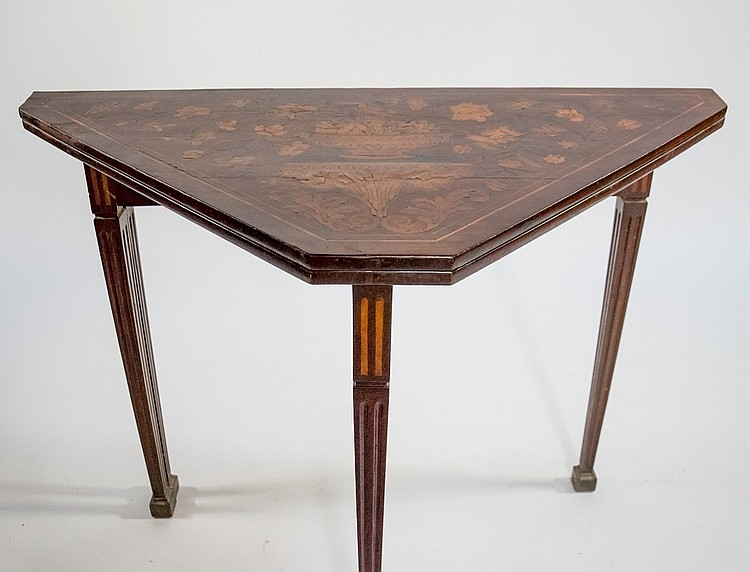 18th Century Dutch Marquetry Game Card Table