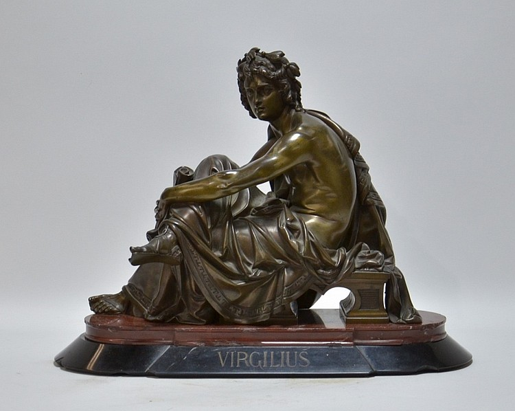 French Neoclassical Bronze Sculpture of Virgil
