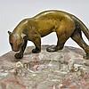 Sgd. Franz Bergman Vienna Bronze Panther Ash Tray