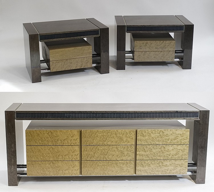 Italian Giovanni Saporiti Credenza and Side Tables