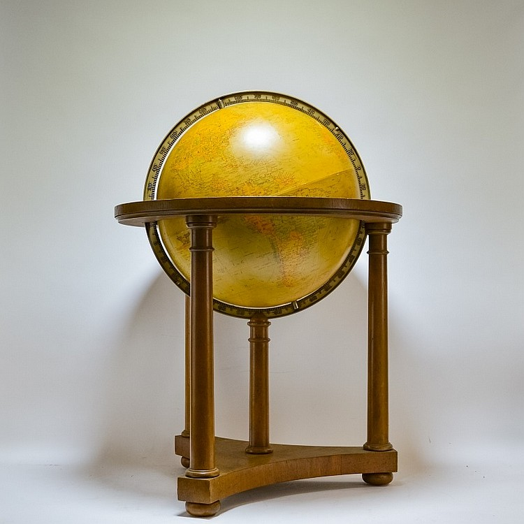 Baker Furniture Replogle Terrestrial World Globe
