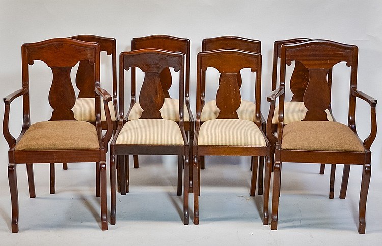 Set of Eight Mahogany Dining Room Chairs