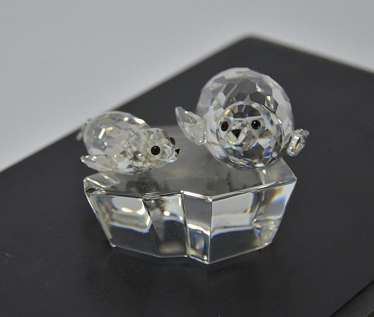 Swarovski Crystal Save Me The Seals Figure