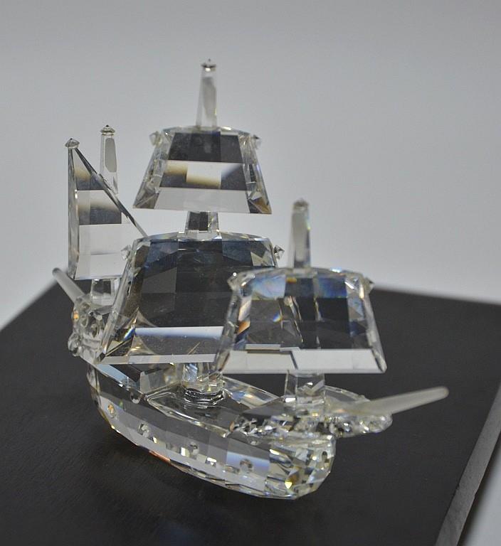 Swarovski Crystal Santa Maria Boat Sculpture
