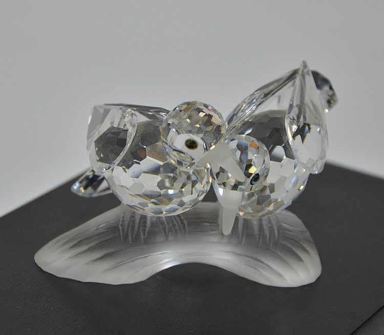 Swarovski Crystal1989 Amour Turtledoves Figure