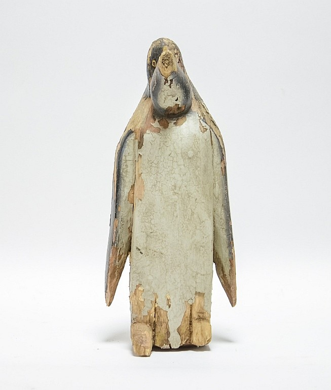 Massachusetts Aft Charles Hart Carved Wood Penguin