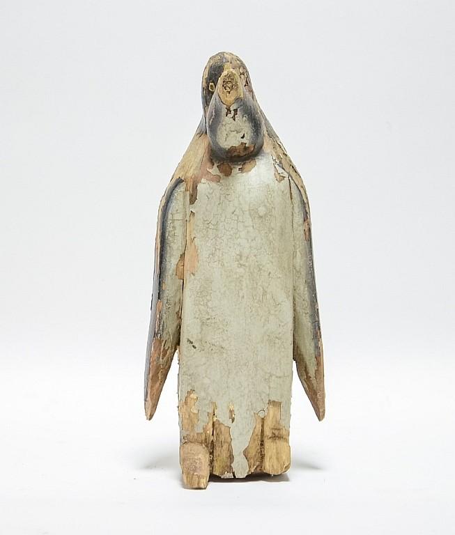 Massachusetts Aft Charles Hart Carved Wood Penguin