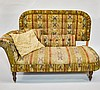 Victorian Matching Fainting Couch & Full Headboard