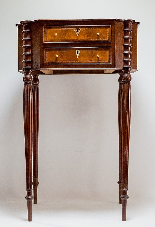 Salem Massachusetts Sheraton Mahogany Workstand