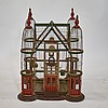 Antique Folk Art Wood & Bent Wire Bird Cage