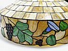 Antique C.1920 Leaded Glass Hanging Light Fixture