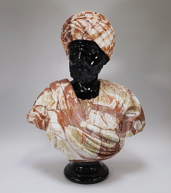 LG Continental Stone Sculpture of Orientalist Man