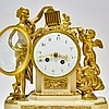 French Figural Avian Marble Ormolu Mantle Clock