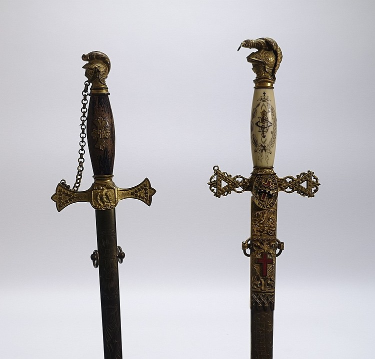 2 American Fraternal Ceremonial Swords