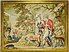 19th C. Victorian English Needlepoint Hunt Scene